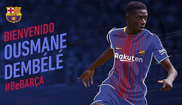 El FC Barcelona ficha a Ousmane Dembélé por 105 millones de euros