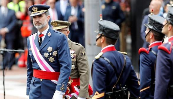 El Rey, tras el desfile en Logroño: