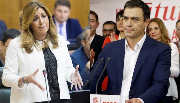 El referéndum, primera línea roja de los barones para pactar con Podemos