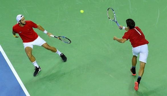 España pierde el punto de dobles frente a Rumanía en la Davis