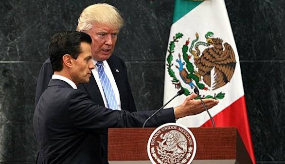 Trump defiende su muro antiinmigración ante Peña Nieto