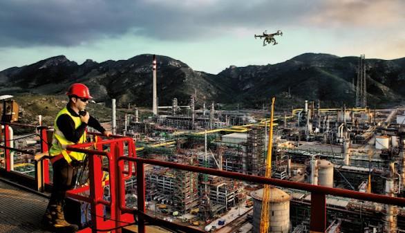 Drones para buscar petróleo, evitar riesgos laborales y ahorrar costes