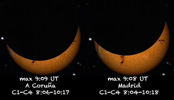 El eclipse solar del 20 de marzo será retransmitido en directo