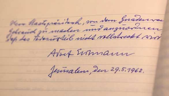 Eichmann pidió el indulto al Gobierno israelí dos días antes de morir ahorcado