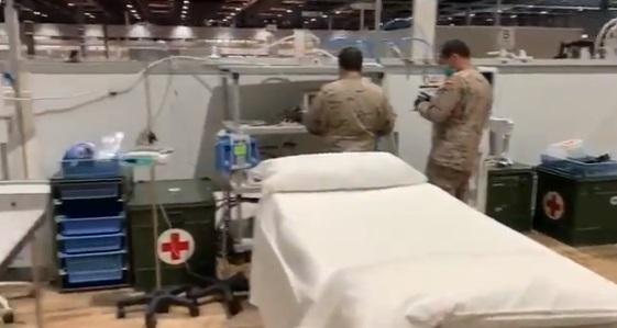 Así es la primera sala de UCI desplegada por el Ejército del Aire en el hospital de Ifema