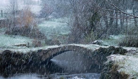 Vuelve el invierno: Aemet prevé para mañana nevadas en cotas bajas