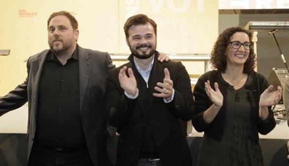 Rufián y ERC pretenden desligar el caso Palau del secesionismo catalán