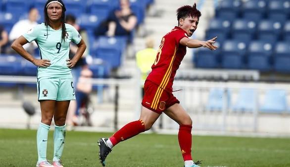 Eurocopa femenina. España brilla en su debut ante Portugal