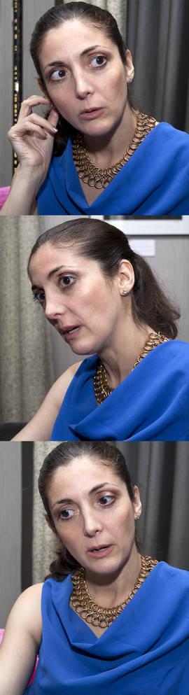 Espido Freire durante la entrevista con EL IMPARCIAL