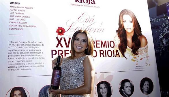 Eva Longoria 'se rinde' a La Rioja y sus vinos