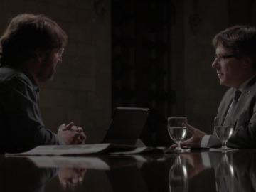 Audiencias. Évole triunfa con su entrevista a Puigdemont