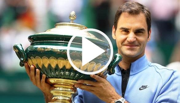 Halle. Federer gana su noveno título y asusta antes de Wimbledon