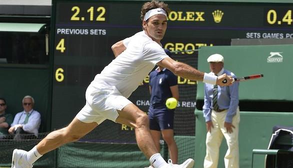 Wimbledon: Federer resiste lo saques de Groth y pasa a octavos