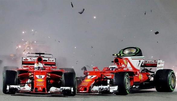 Hamilton, más cerca del título tras la accidentada salida de Ferrari