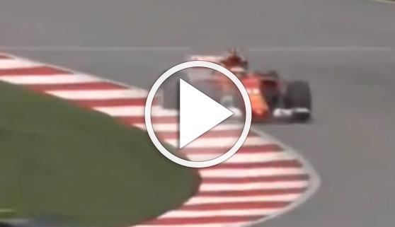 Vídeos virales. Un piloto de F1 pierde el control por una alcantarilla mal cerrada