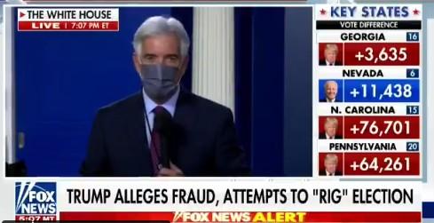 Televisiones de EEUU, incluida Fox News, cortan el discurso de Trump y lo desmienten