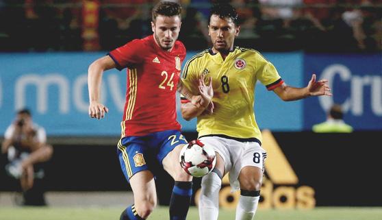 El amistoso España-Colombia acapara el interés televisivo