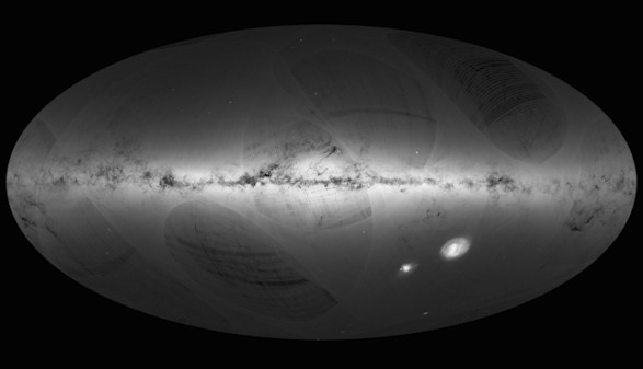 El satélite Gaia dibuja el primer gran mapa de la Vía Láctea
