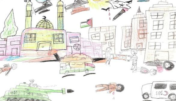 Los niños de Gaza combaten sus pesadillas con lápices de colores