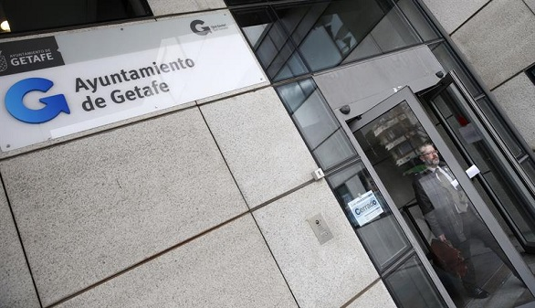 La Policía registra el Ayuntamiento de Getafe