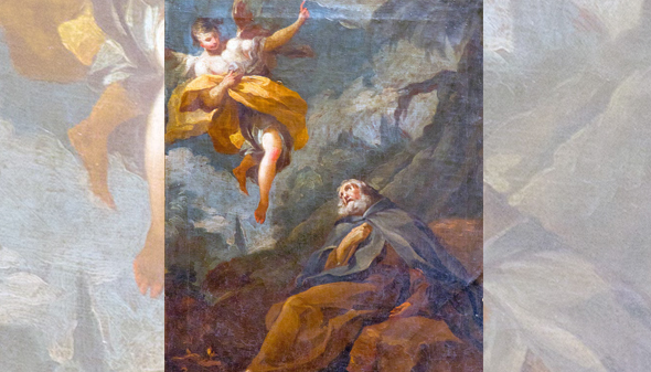 El éxtasis de San Antonio Abad es de Goya, no de Bayeu