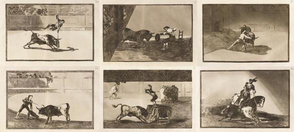 Hallados 33 grabados de Goya ocultos en la biblioteca de un castillo francés
