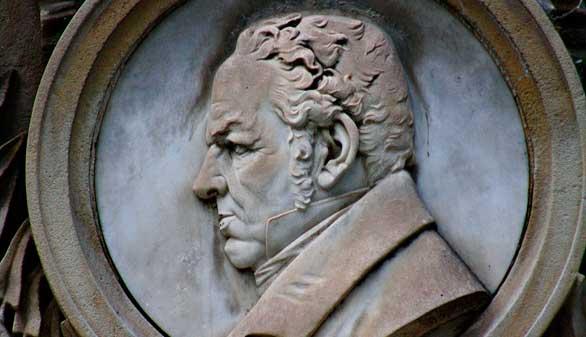 Retrato escultórico de Goya en su tumba en la Sacramental de San Isidro. Foto: Flickr / MadridFotos