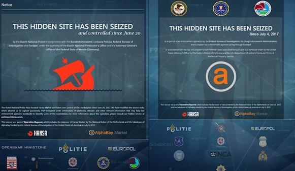 Clausuran AlphaBay y Hansa: dos de los mayores mercados negros de la Dark Web