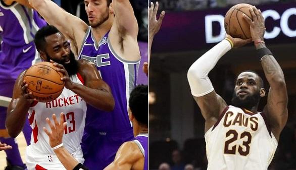 NBA. Oficial: James Harden y LeBron James pelean por el MVP
