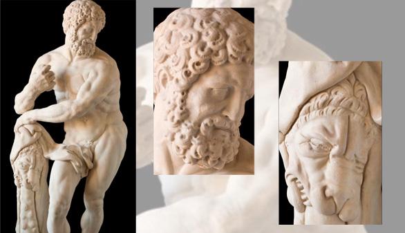 Restaurada una escultura de Hércules olvidada en un jardín de Madrid