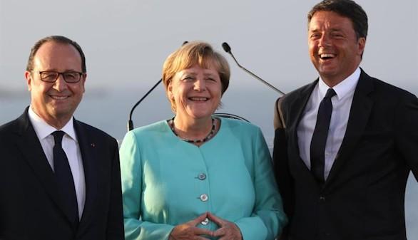 Hollande y Merkel piden mayor cooperación migratoria y en seguridad