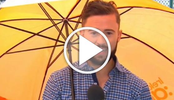 Vídeos virales. Hombre del tiempo, profesión de riesgo
