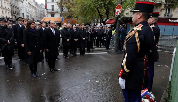 Homenaje a las víctimas de los atentados hace un año de París
