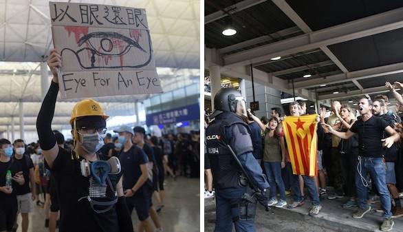 Consecuencias negativas de los movimientos independentistas en Hong Kong y Cataluña