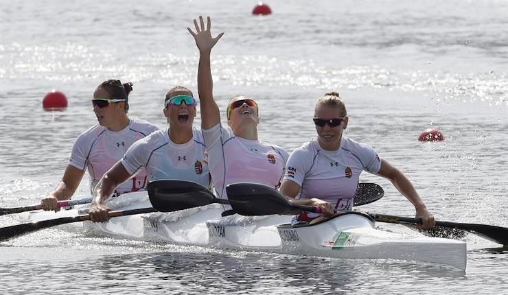 Hungría revalida su título olímpico en K4 500 metros femenino