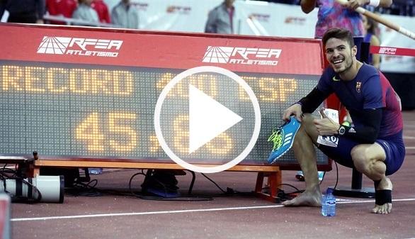 Husillos bate el récord de España de 400 metros y a un doble campeón mundial