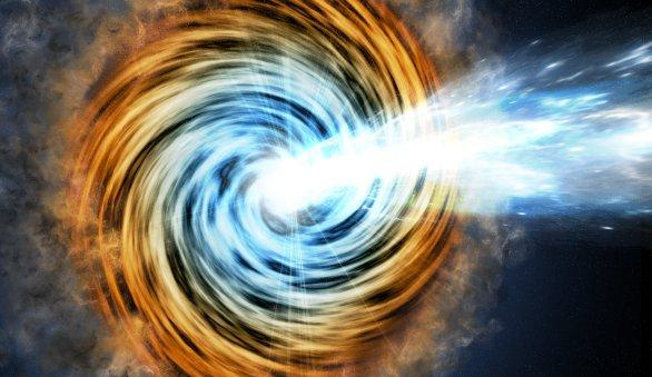 Detectada una emisión de rayos gamma de una galaxia activa muy lejana