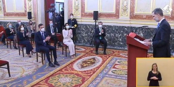 Pablo Iglesias no aplaude al Rey en el aniversario del 23F
