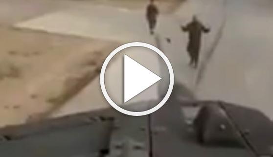 Vídeos virales. Iglesias y Puigdemont, amenazados desde un tanque