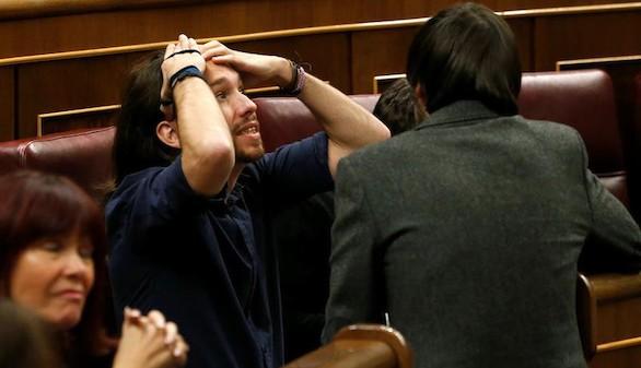 Pablo Iglesias da la nota en la jornada de puertas abiertas del Congreso