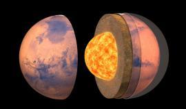 lustración de la estructura interna de Marte.