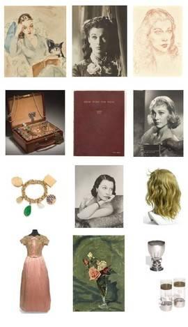 Algunas de las pinturas y objetos de Vivien Leigh que serán subastados en Sotheby's