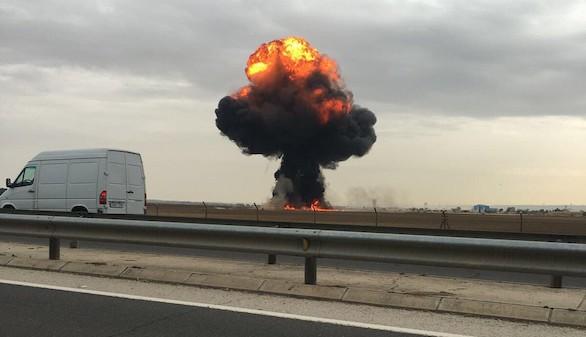 Muere en Madrid el piloto de un F-18 al estrellarse en el despegue