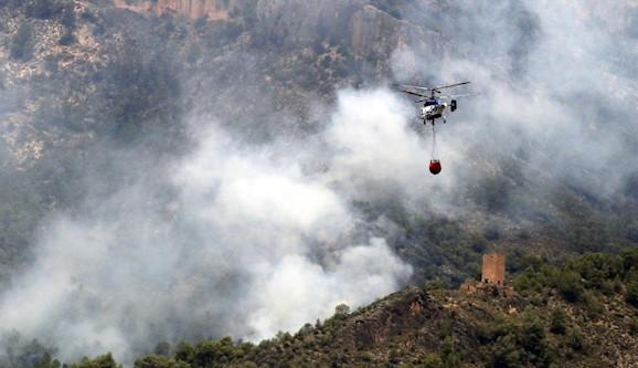 El incendio de Yeste lleva quemadas más de 3.200 hectáreas
