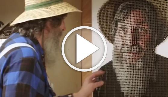 Vídeos virales. Increíbles cuadros 3D con tornillos