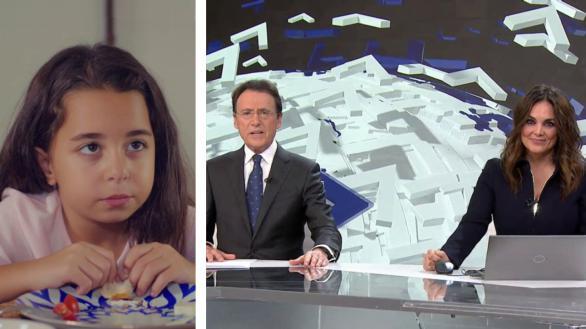 Escenas de la serie 'Mi hija' y de los informativos Antena 3 Noticias 2.