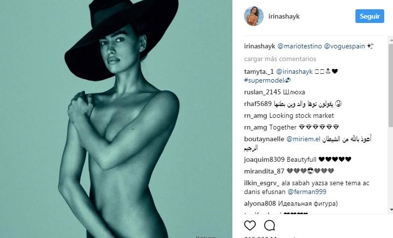 Irina Shayk posa desnuda para Mario Testino