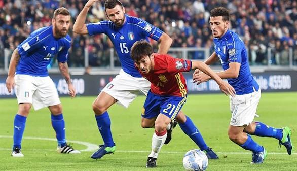 La mala fortuna se impone al fútbol en el empate entre Italia y España  1-1
