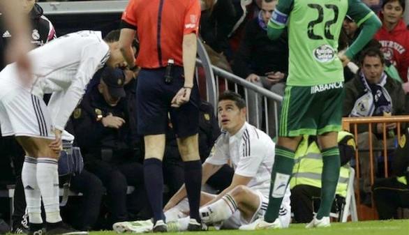 James Rodríguez vuelve de su selección lesionado y será tres semanas baja