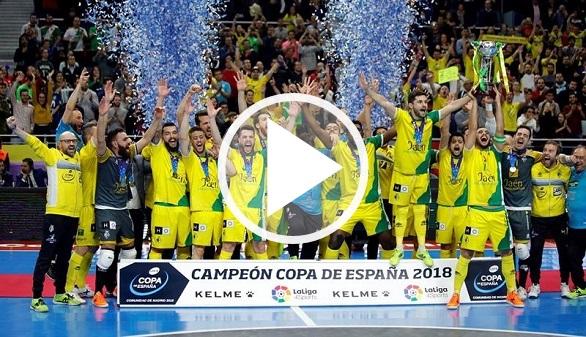 Fútbol sala. El Jaen tumba al Inter Movistar y gana la Copa de España   3-4
